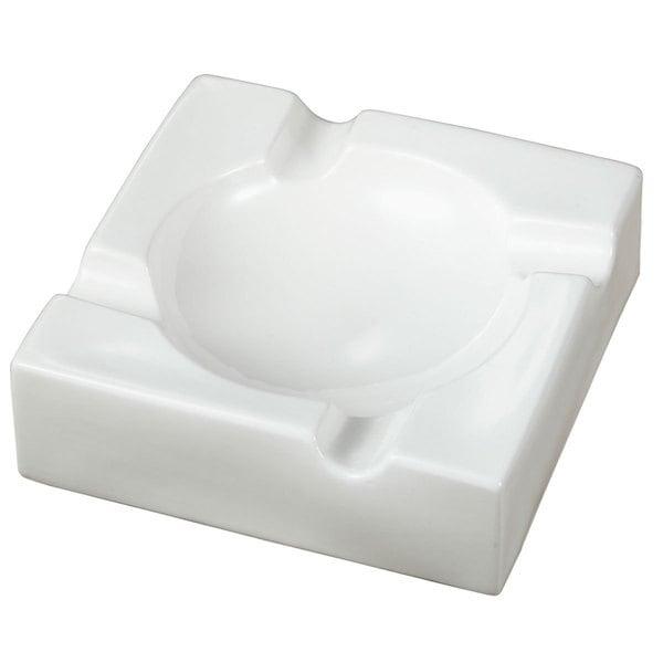 Visol Donovan White Ceramic Cigar Ashtray For Patio Use