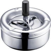 Blend Silver Metal Air Tight Spinning Ashtray
