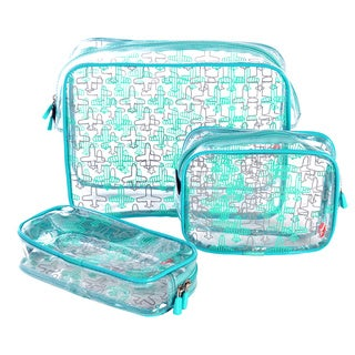 Olympia 3-Piece Clear Travel Kit Set