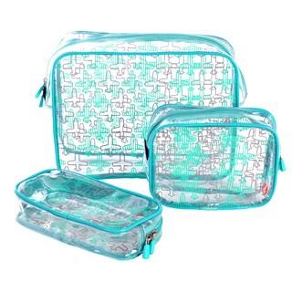 Olympia 3-Piece Clear Travel Kit Set