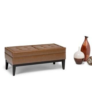 WYNDENHALL Barrington Storage Ottoman Bench with 2 Trays