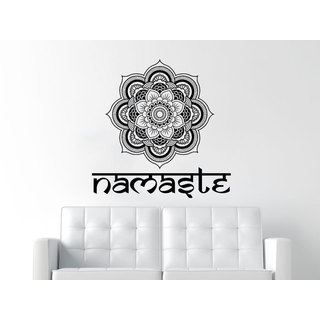 Namaste Mandala Black Vinyl Sticker Wall Art