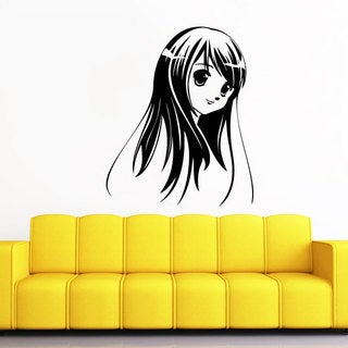 Anime Black Vinyl Sticker Wall Art