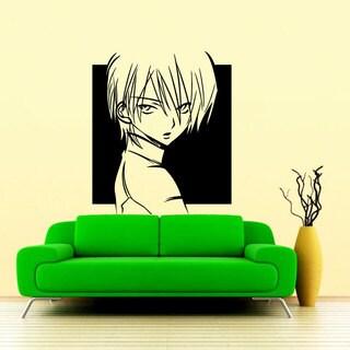 Poster Anime Black Vinyl Sticker Wall Art