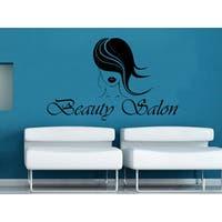 Beauty Salon Logo Decor Black Vinyl Sticker Wall Art