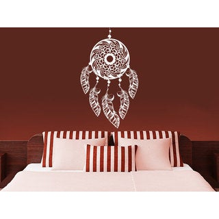 Dreamcatcher indian Symbol White Vinyl Sticker Wall Art