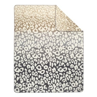 IBENA Sorrento Ombre Leopard Oversized Throw