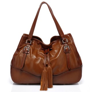 Vicenzo Leather Madonna Italian Leather Handbag