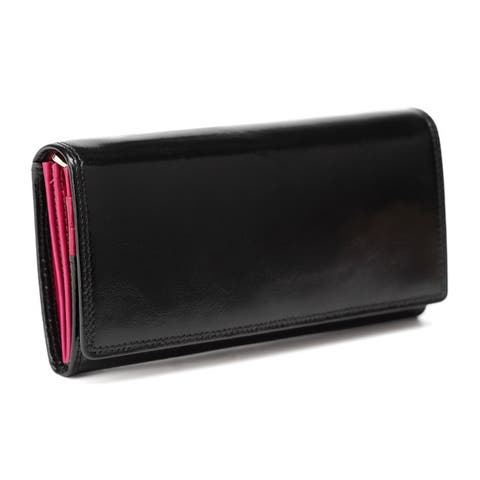 Vicenzo Leather Pelomas Leather Trifold Womens Coin Purse