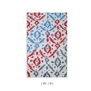 Handmade Lavan Wool Abstract Multi-colored Rug (5' x 8')