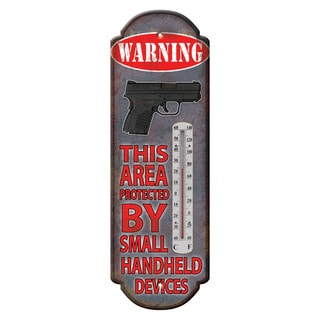 Rivers Edge Products Tin Thermometer Warning Hand Held Device