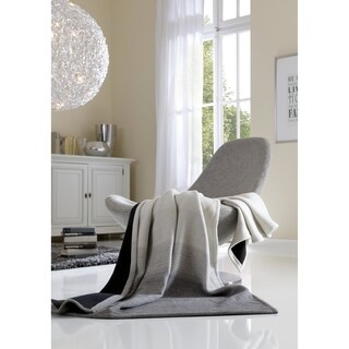IBENA Sorrento Reversible Striae Oversized Throw (2 options available)