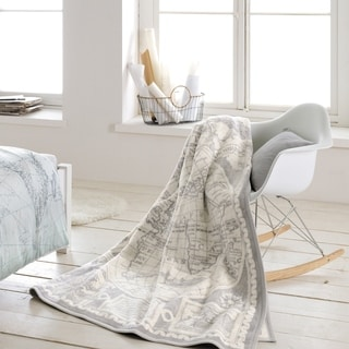Sorrento World Map Oversized Throw