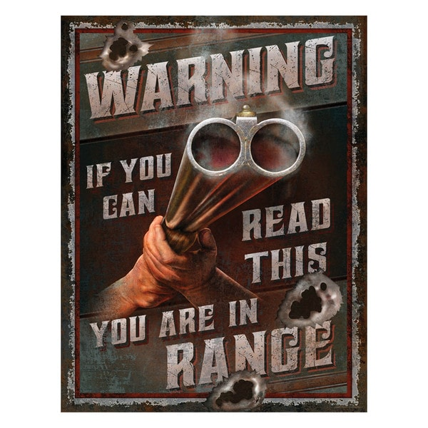 Rivers Edge Products 'You're In Range' Heavy Metal Sign