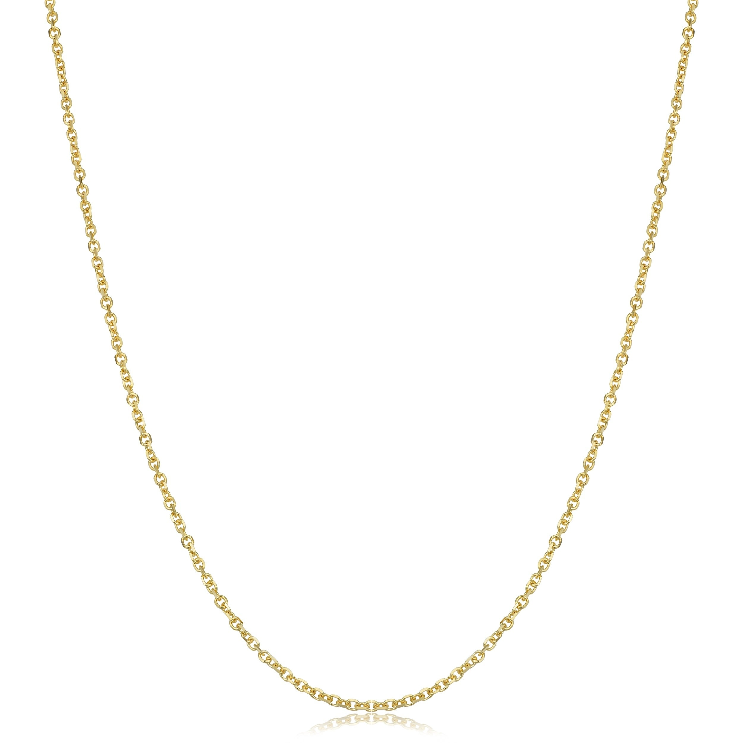 IcedTime 14K Yellow Gold 1.9mm wide Diamond Cut Forsantina Chain with Lobster Clasp