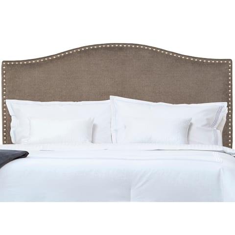 Handy Living Grey Full/Queen Upholstered Headboard