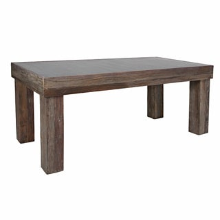 Handy Living Brookdale Reclaimed Wood Zinc Top Dining Table