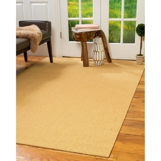 Hand-crafted Madison Sisal Gold Rug (8'x10')
