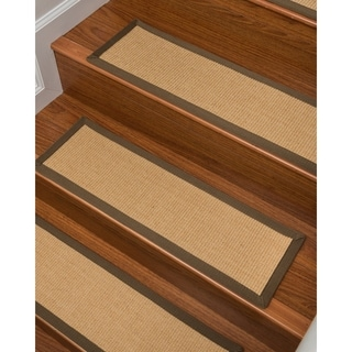 Hand-crafted Sumatra Sisal Carpet Stair Tread ('9 x 2'5) (Set of 13)