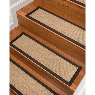 """Natural Area Rugs Montreal Sisal Carpet Stair Treads (Set of 13) - 9""""x 29"""""""