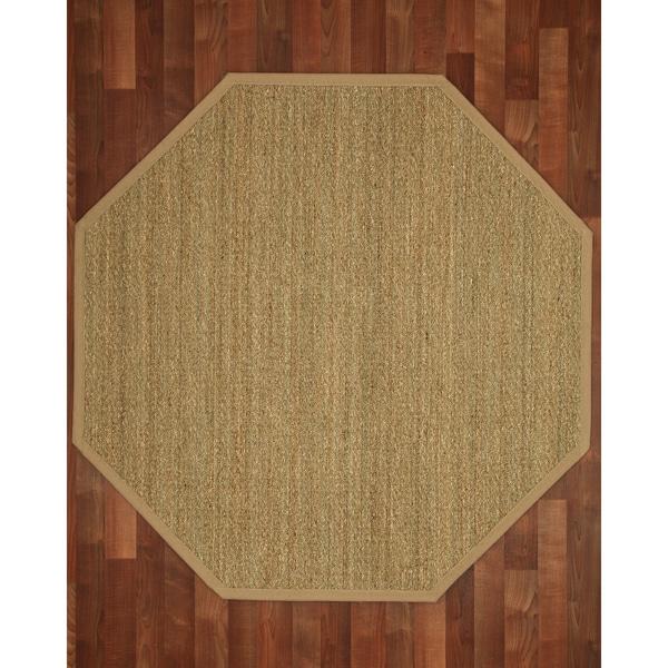 Washable Jute Rugs: Shop Pinamar Octagon Seagrass Sage/ Khaki Rug (5'x5')