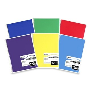 Mead 3-Subject College Rule 120 Sheet Notebook - Assorted Color