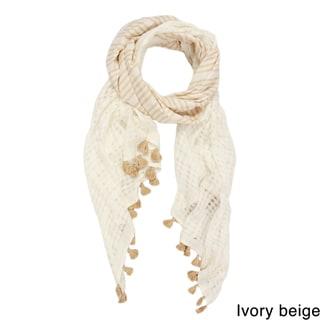 Saachi Women's Stripes and Tassels Scarf (China)