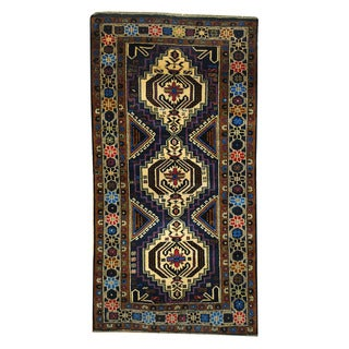 Herat Oriental Afghan Hand-knotted 1960s Semi-antique Tribal Balouchi Wool Rug (3'4 x 6'6)