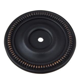 GlideRite 2.5-inch Oil Rubbed Bronze Round Backplate