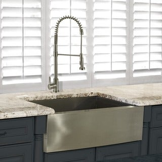 Highpoint Collection 30-inch Stainless Steel Apron Sink wth Faucet Set