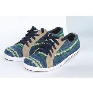 ANDIZ Women's Handmade, Blue Low-cut Wool Oxford Shoes|https://ak1.ostkcdn.com/images/products/10372514/P17478806.jpg?impolicy=medium
