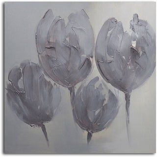 Link to 'Tulips in Neutral' Original Oil Painting on Wrapped Canvas Wall Art Similar Items in Canvas Art