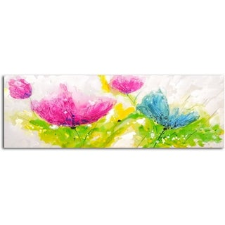 'Summertime Blooms' Original Oil Painting on Wrapped Canvas Wall Art