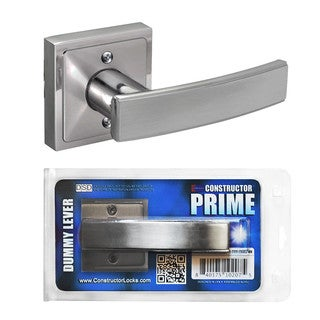 Prime Dummy Lever Door Lock Satin Nickel Finish Knob Handle Lockset