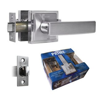 Prime Passage Lever Door Lock Satin Nickel Finish Knob Handle Lockset