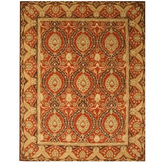 Hand-tufted Wool Red Traditional Oriental Khyber Rug (4' x 6')