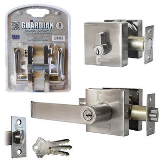 Guardian Combo Lock Set Entry Lever and Single Cylinder Deadbolt (As Is Item)