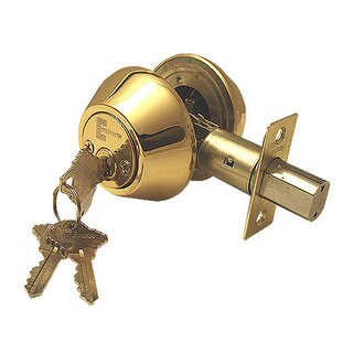 Deadbolt Door Lock Set with Double Cylinder Finish: Polished Brass