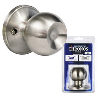 Chronos Dummy Stainless Steel Finish Door Lever Lock Set Knob Handle Set (As Is Item)