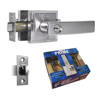 Prime Entry Lever Door Lock Satin Nickel Finish Knob Handle Lockset