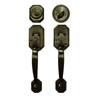 Cerberus Entry Hand Set Door Lock Lever Antique Bronze Finish Door Lock Lever Handle Set