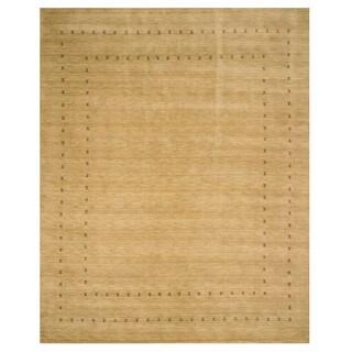Handmade Wool Beige Traditional Tribal Lori Baft Rug (10' x 14') - 10' x 14'