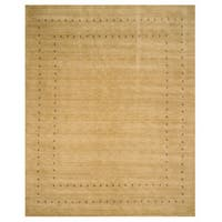 Handmade Wool Beige Traditional Tribal Lori Baft Rug - 10' x 14'
