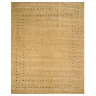 Handmade Wool Beige Traditional Tribal Lori Baft Rug - 10' x 14'