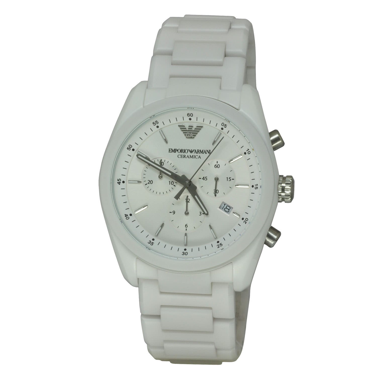 Emporio Armani Men's AR1493 Ceramica White Watch (White),...