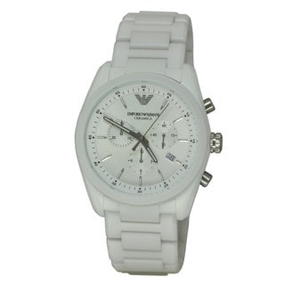 Emporio Armani Men's AR1493 Ceramica White Watch