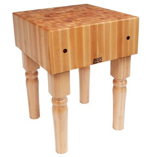 John Boos Butcher Block 30 x 30 Table and Henckels 13-piece Knife Block Set