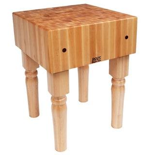 John Boos Butcher Block 30 x 30 Table and Henckels 13-piece Knife Block Set