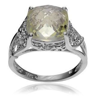 Journee Collection Sterling Silver Quartz Topaz Accent Ring