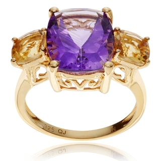 Journee Collection Goldplated Sterling Silver 3-Stone Ring